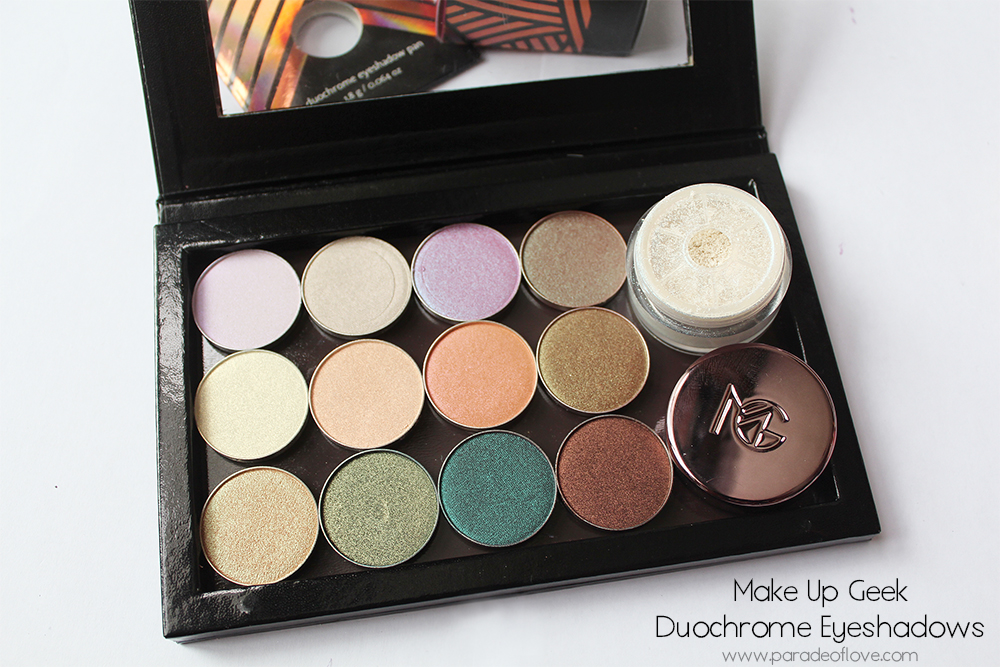 Makeup Geek Duochrome Eyeshadows