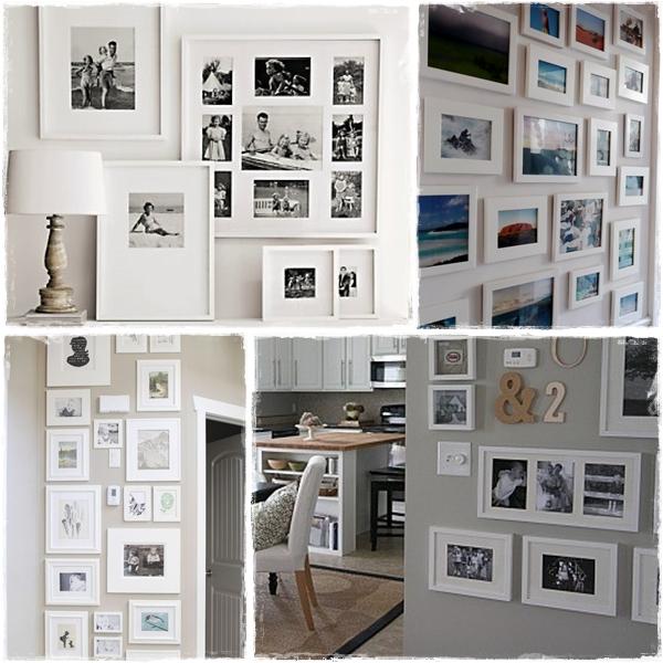 Deco photo frame llegar a los 30 sin morir en el intento - Composicion marcos pared ...