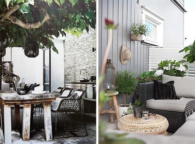 Terrazas decoradas en blanco y negro
