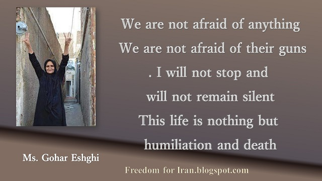 Iran:Ms.Gohar Eshghi,mother of Satar Beheshti