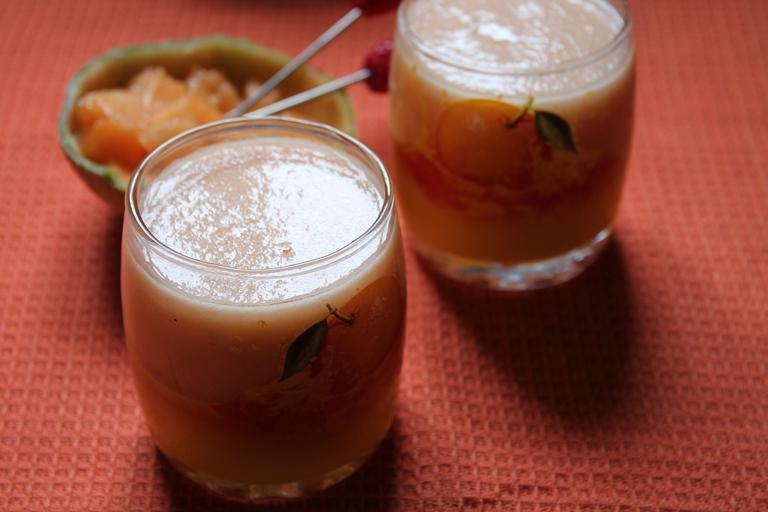 muskmelon juice recipe / cantaloupe juice recipe / kirni pazham juice recipe / mulam pazham juice recipe