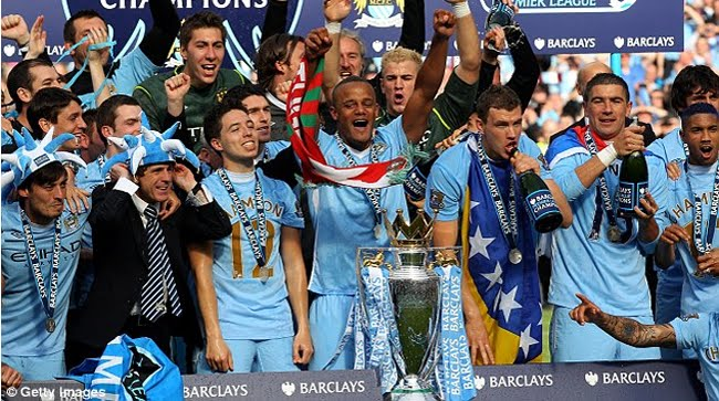 MANCHESTER CITY LEAGUE WINNERS - 2012