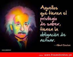Frase célebre de Albert Einstein