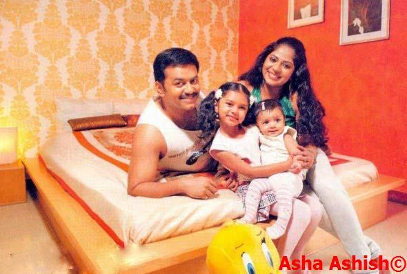 Asha Ashish Malayalam Actor Indrajith And Poornima Indrajith With Daughters