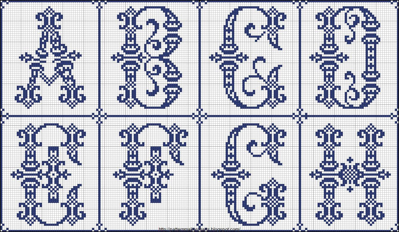 Рисунки буквы для вышивки 530