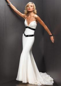 White A-line Halter Floor Length Evening Dress