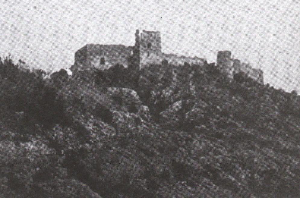 El castell de Bairén a finals del segle XIX, quan encara estava sencer