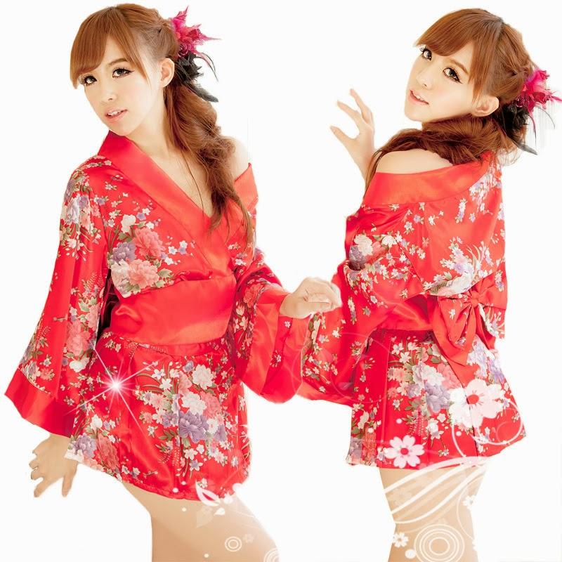 Desain Baju Tidur Lingerie Kimono Seksi Jepang