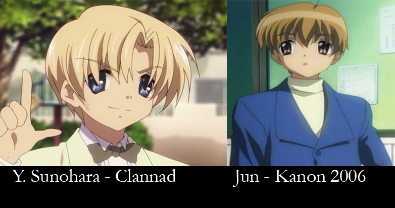 Similar characters - sunohara and Jun