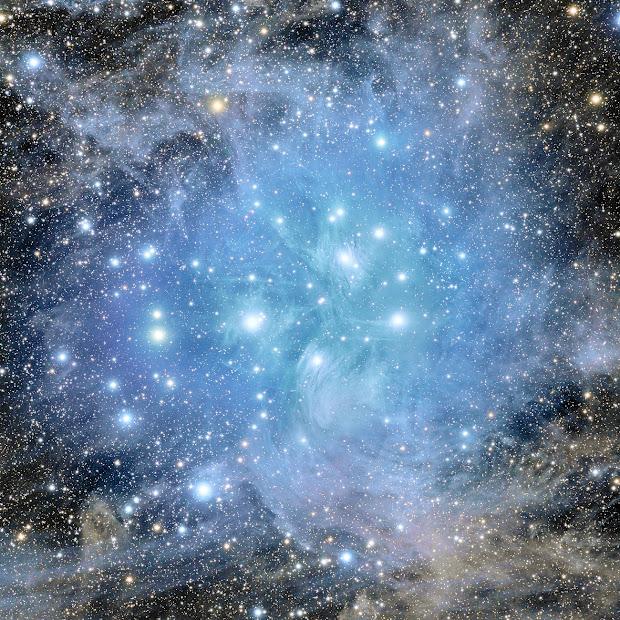 A stunning Pleiades Deep Field!
