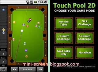 Free Touch Pool 2D Game for Android Interface