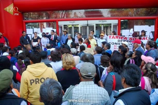 Noticias guerrer s sme manifestaci n contra el cobro for Eliminar electricidad estatica oficina