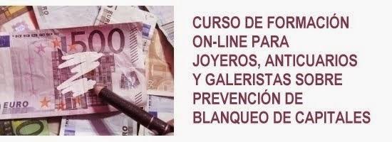 Curso on-line para joyeros, anticuarios y galeristas sobre prevención de blanqueo de capitales