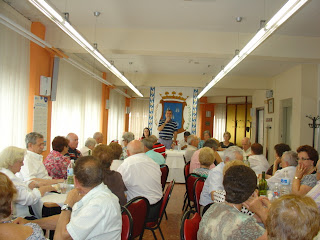 UN momento de la celebracion del bejarano ausente en el centro de dia de personas mayores