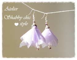 Orecchini di tulle