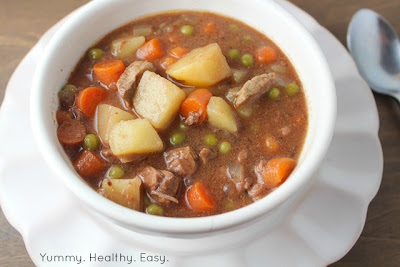 Easy Beef Stew cooked right in the slow cooker