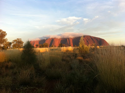Clouds 'ice' Ayers Rock