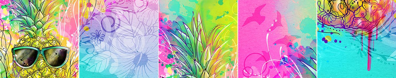 summer illustration pineapple with sunglasses