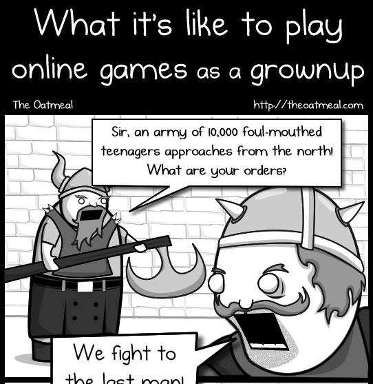 comic, Oatmeal. The Oatmeal, MMO, games, videogames, gaming, comics, gaming comics