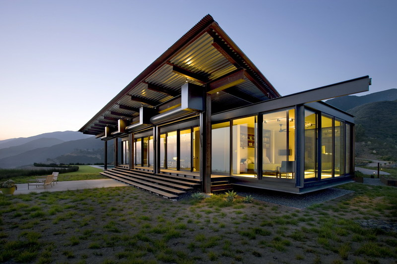 Casas minimalistas y modernas casa de vidrio en montecito for Casa minimalista vidrio