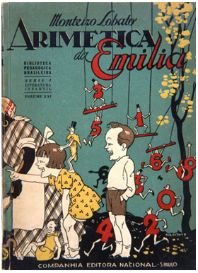 livro artmética da emília de 1947 - capa dura