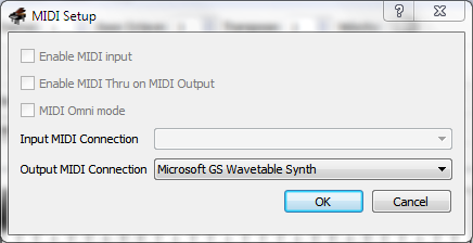 VMPK : MIDI Setup