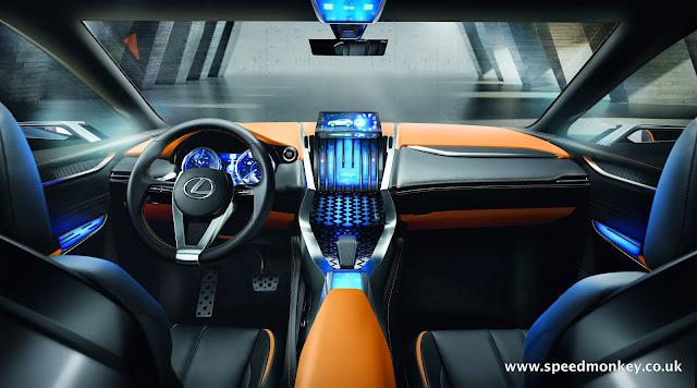 Lexus LF-NX concept interior