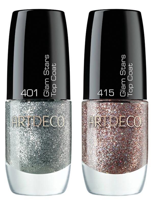 ARTDECO Ceramic Nail Laquer Top Coats Glam, Moon & Stars LE