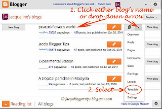 Screenshot to illustrate how to enable mobile templates in Blogger's new user interface