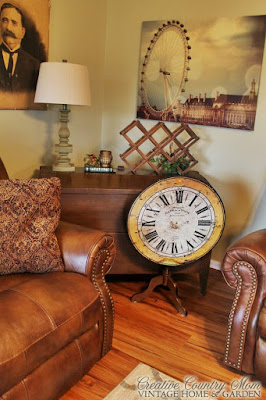 repurposed clock into table