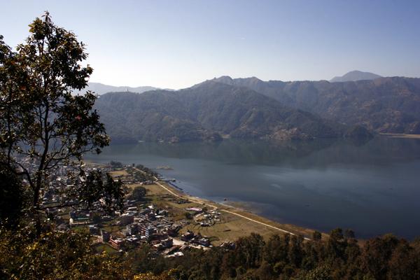 Pokhara und Phewa See, Nepal