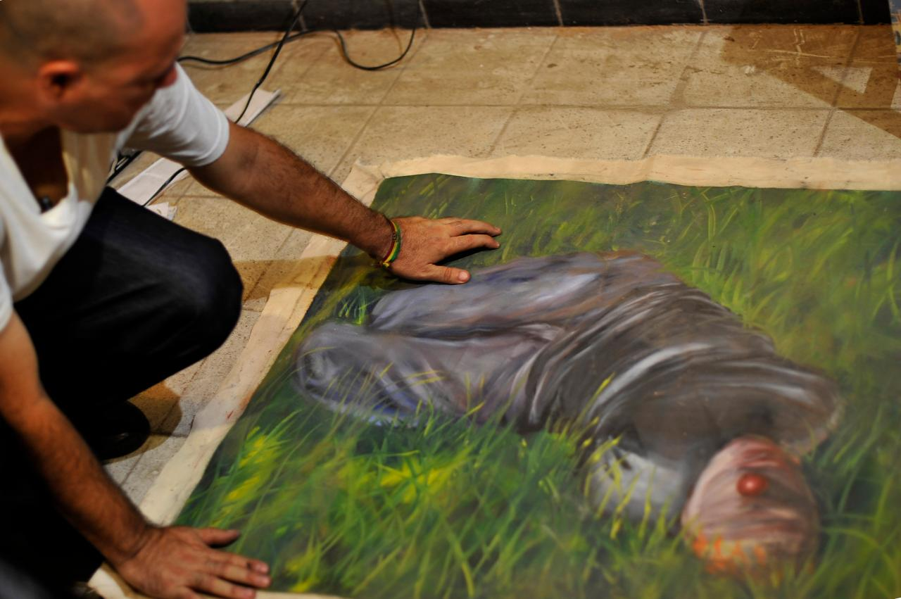 art include artist lenin marquez salazar from the mexican state of sinaloa and who paints rich landscapes with images of drug trafficker victims