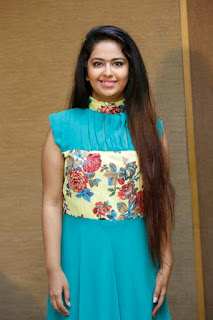 Avika Gaur in lovely floor length Blue Sleeveless Gown with flower print Spicy cute pics