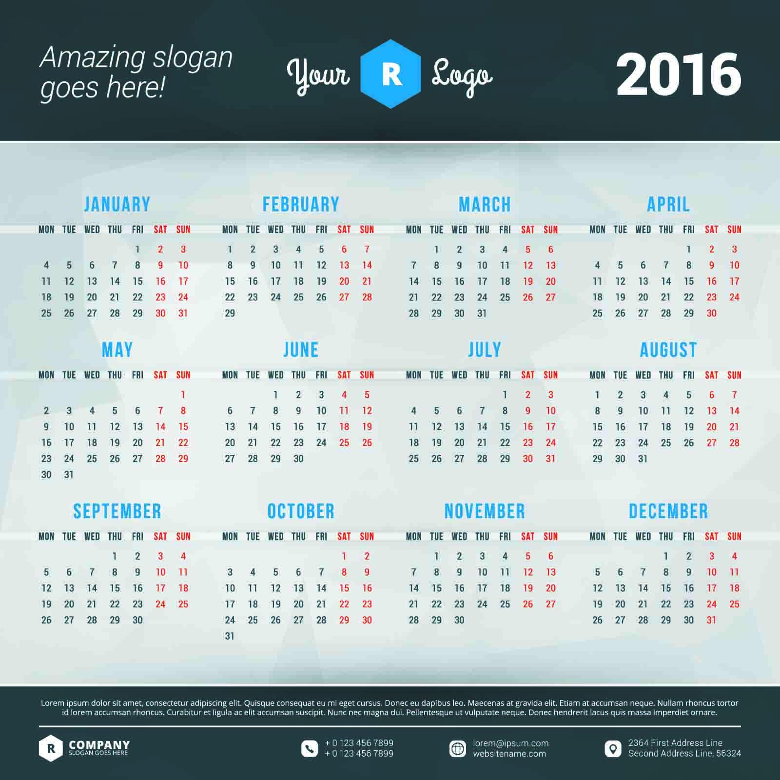 2016カレンダー無料 ... : 2 015カレンダー : カレンダー