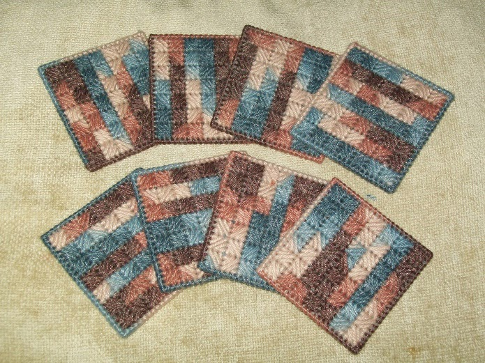 http://www.shophandmade.com/Item/Colorful-Coasters-Set-Of-8-from-Marsha-s-Spot/H62XDWA