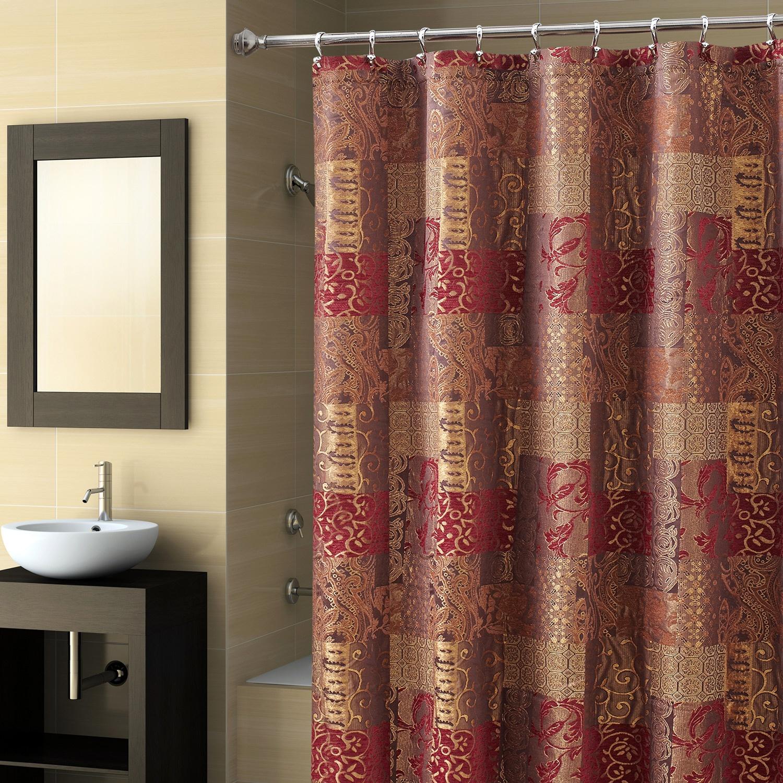 Hjem interiør design: se elegant med bourgogne badeforhæng
