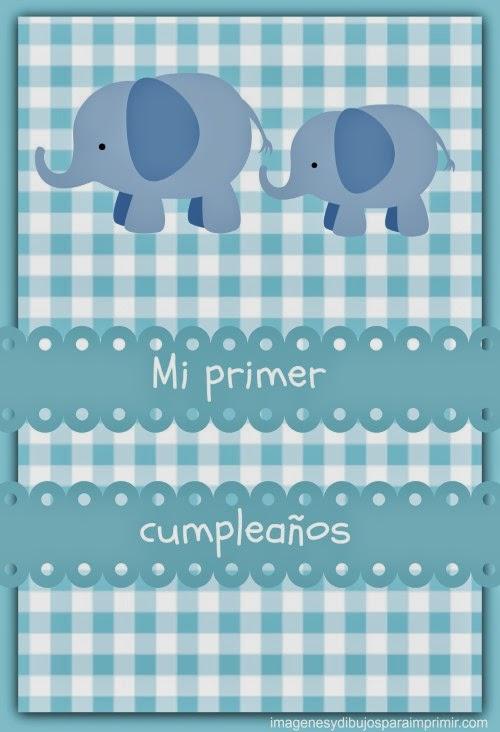 Mi primer cumpleaños para imprimir