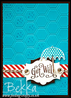 Rain or Shine & Perfectly Penned Get Well Soon Card by Stampin' Up! Demonstrator Bekka Prideaux for one of her card making classes - check them out!