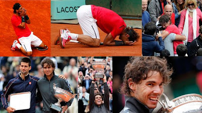 Nadal gana la final de Roland Garros 2012 ante Novak Djokovic