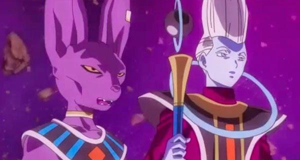 Bill y Whis en Dragon Ball Z - Fukkatsu no F