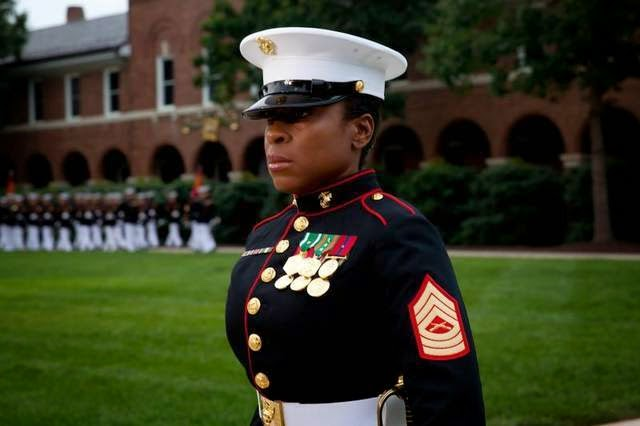 Military News - More female Marines to wear male dress blues