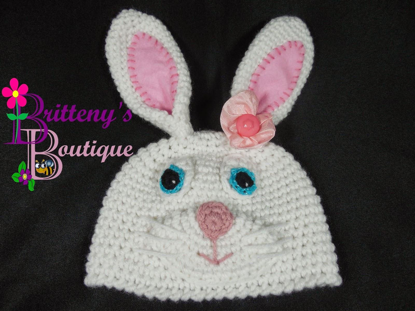 Britteny Off the HOOK!!: Bunny Rabbit Hat - Crochet Pattern - FREE PDF