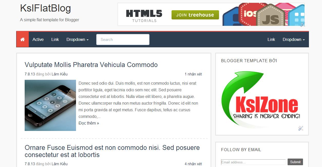 Chia sẻ template KslFlatBlog