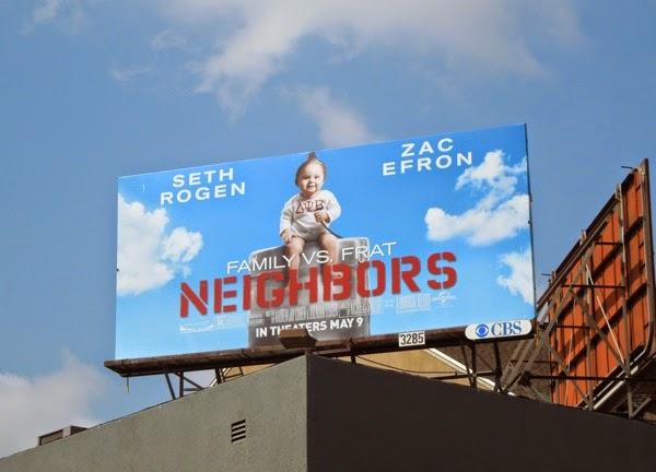 Neighbors baby beer keg billboard