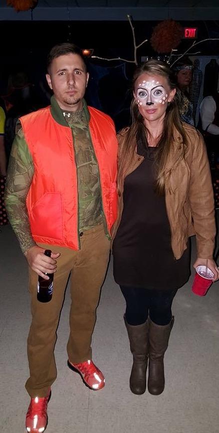 Cheap DIY Deer and Hunter Couples Halloween Costume