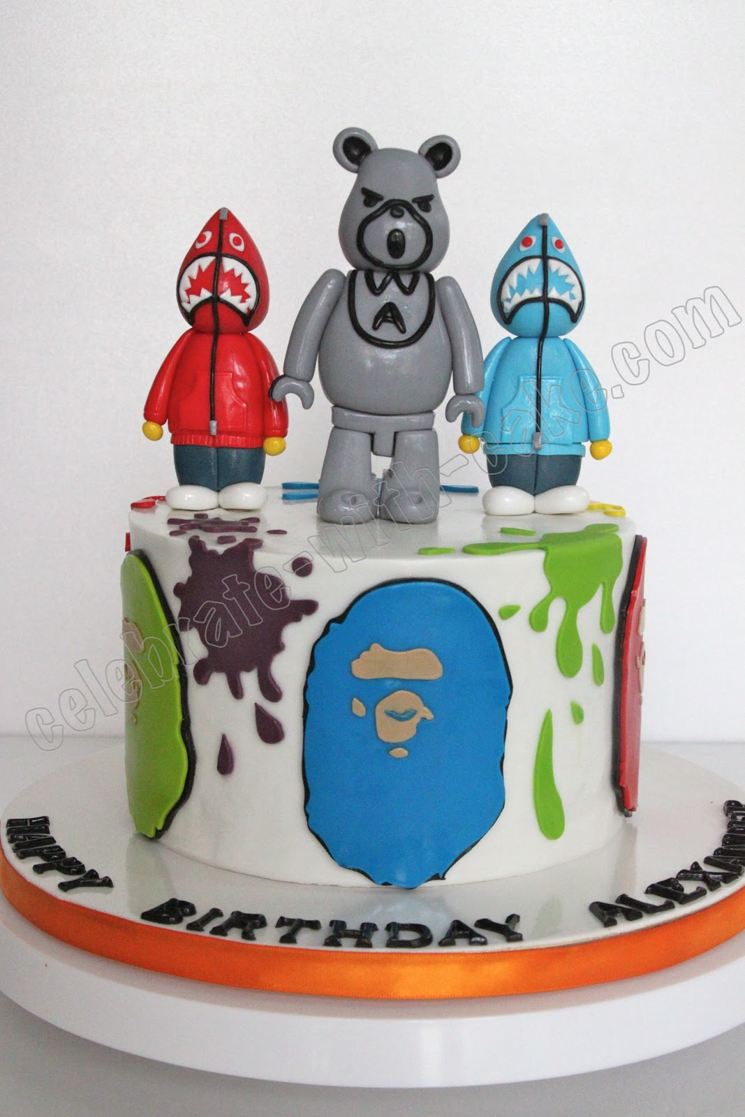 Bear Brick A Bathing Ape Themed Cake