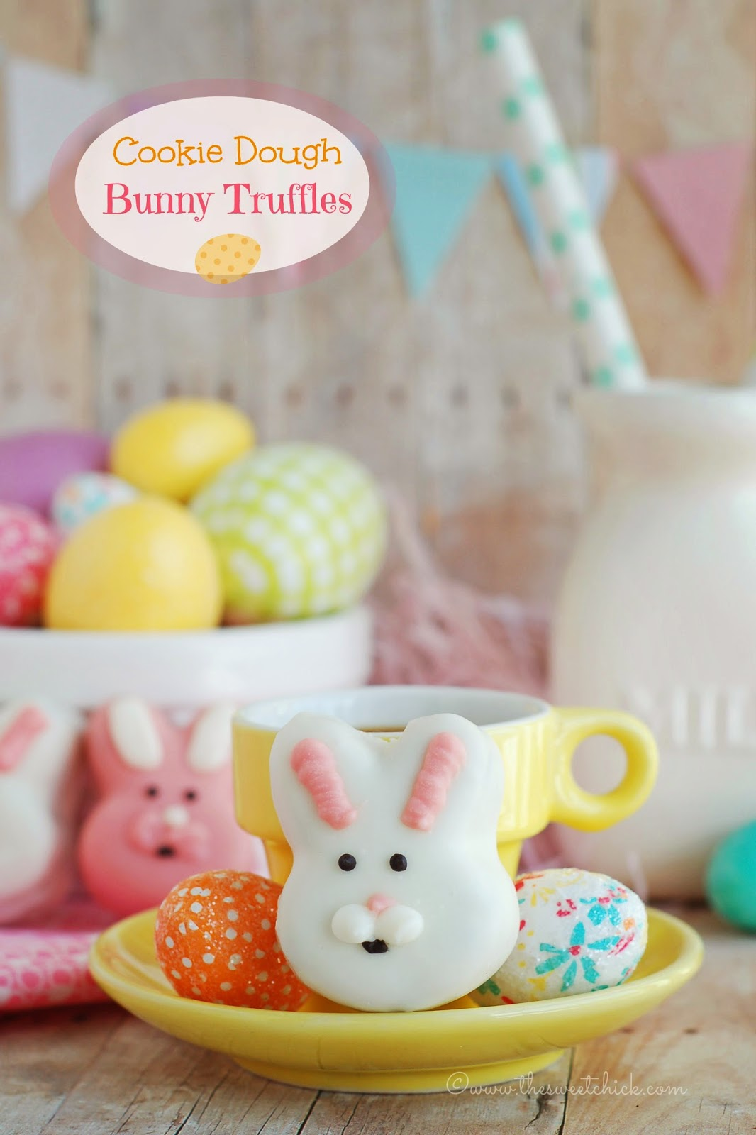 Cookie Dough Bunny Truffles by The Sweet Chick