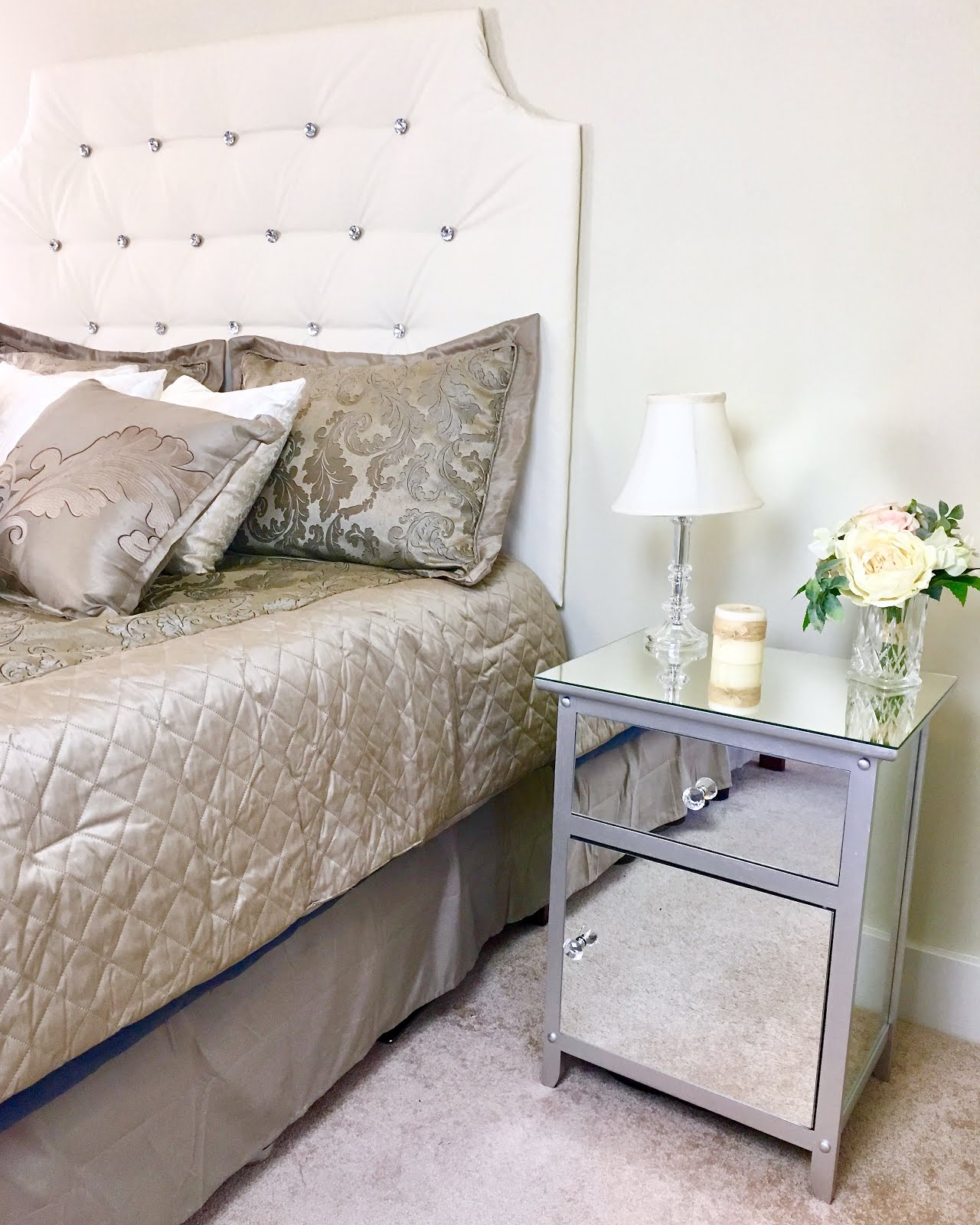 Video Diy Mirrored Nightstands Hack Mirrored Furniture Makeover