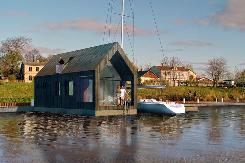 Cabaña Casa en el lago flotante NRJA