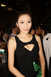 Li Xiao Xing Taiwan Sexy Model Sexy Black Dress Advertise Kingston Game 8